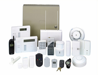 Various types of security alarms
